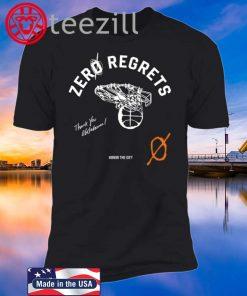 Zero Regrets Shirt - Russell Westbrook Tshirt - OKC T-shirt