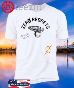 Zero Regrets Thank You Oklahoma Logo Shirt