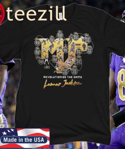 2019 MVP LAMAR JACKSON BALTIMORE RAVENS TEE SHIRT Limited Edition