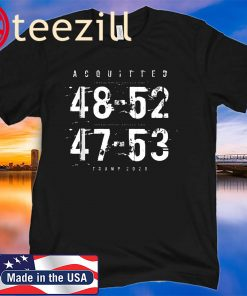 Acquitted Donald Trump 2020 T shirt