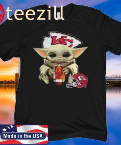 Baby Yoda Kansas City Chiefs Tshirt The Mandalorian Merch