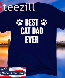 Best Cat Dad Ever 2020 Father Day Gift Shirt
