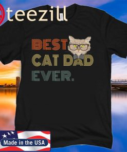 Best Cat Dad Ever Gift Cat Daddy 2020 T Shirt