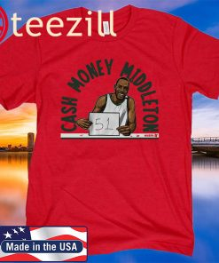 Khris Middleton TShirt - Cash Money Milwaukee NBPA TShirt