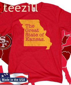 Missouri The Great State Of Kansas T-Shirt