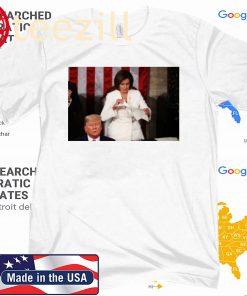Nancy Pelosi ripped up speech Trump Tee Shirt, hoodie, sweater long