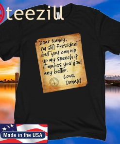 Political Humor Letter To Pelosi - President Trump Acquitted T-Shirt