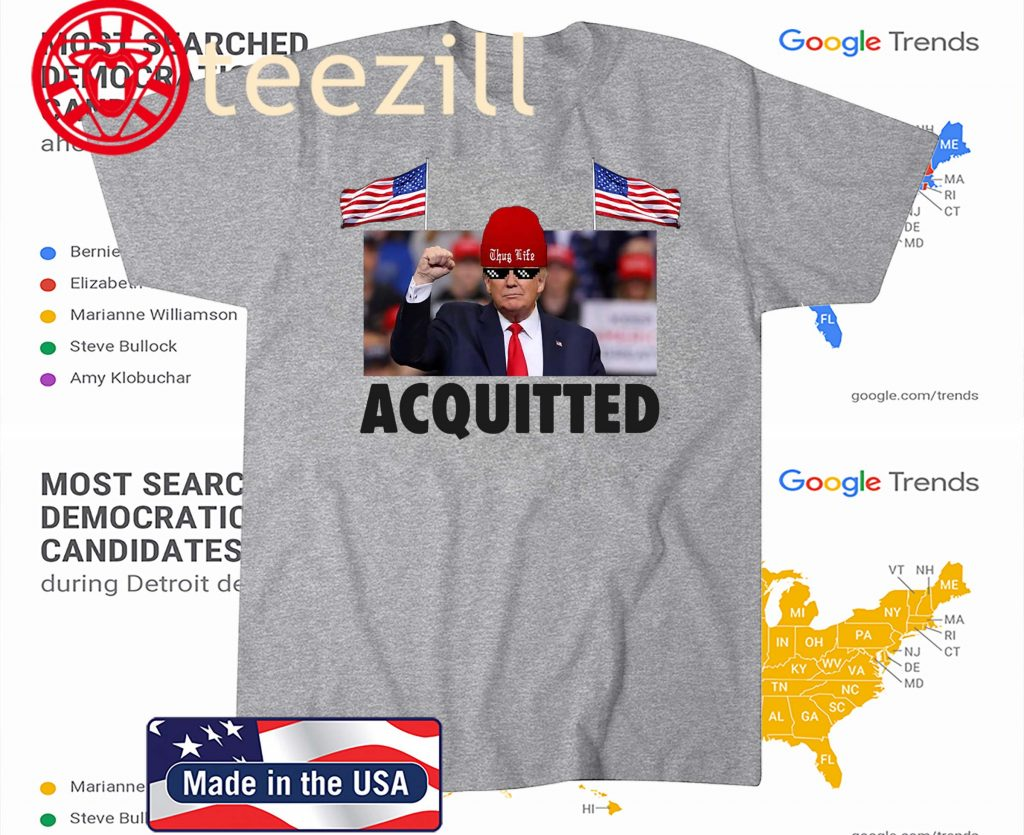 President Trump Acquitted Victory Funny Pro Trump Tee Shirt Teezill