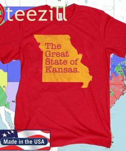 The Great State Of Kansas Missouri State Shirts