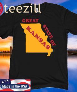 The Great State of Kansas Funny Missouri Shirt Tshirt