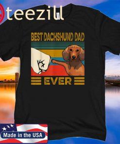 Vintage Best Dachshund Dad Ever Shirt