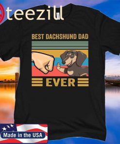 Vintage Best dachshund dad ever gift shirt