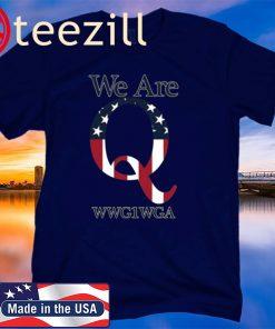 We are Q WWG1WGA Black Baseball Shirts
