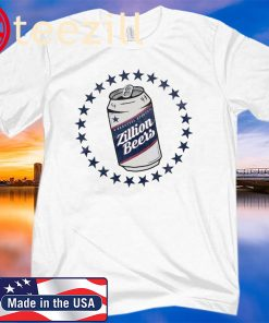 ZILLION BEERS CAN TEE SHIRT