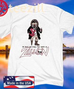 ZILLION BEERS PIRATE DOG POCKET TEE SHIRT