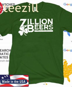 ZILLION BEERS SHAMROCK PATRICK'S DAY 2020 SHIRT