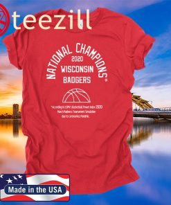 2020 NATIONAL CHAMPIONS WISCONSIN BADGERS T-SHIRTS