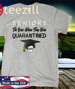 Class Of 2020 Graduation Senior Funny Quarantine Gray T-Shirt