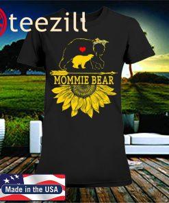 Mommie Bear Sunflower Lover Mother Day 2020 Shirt