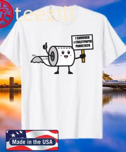 Toilet Paper Shortage Virus Flu Panic 2020 I Survived Gift T-Shirt