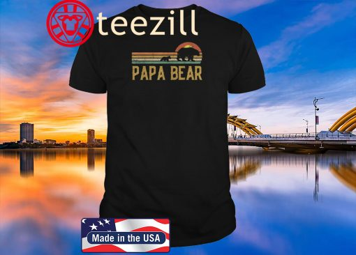 Vintage Papa Bear - Daddy Wildling Father's Day 2020 Dad Gift Shirt