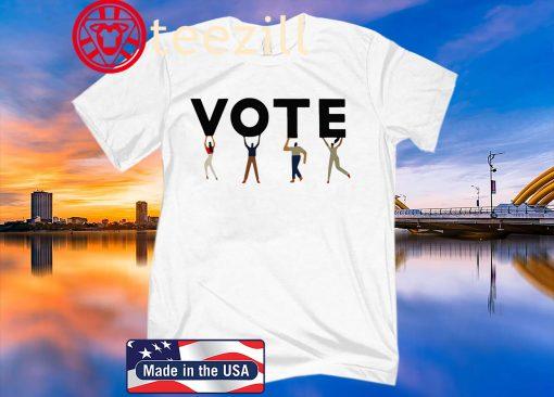 Vote Graphic Tomboy T-Shirt