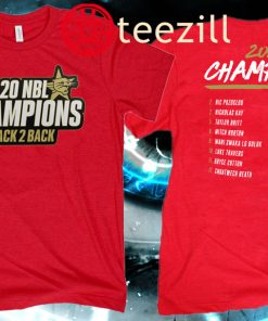 2020 Back 2 Back Champions Squad Official T-Shirt