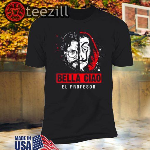 El-Profesor Bella Ciao Distressed Halloween 2020 Shirt