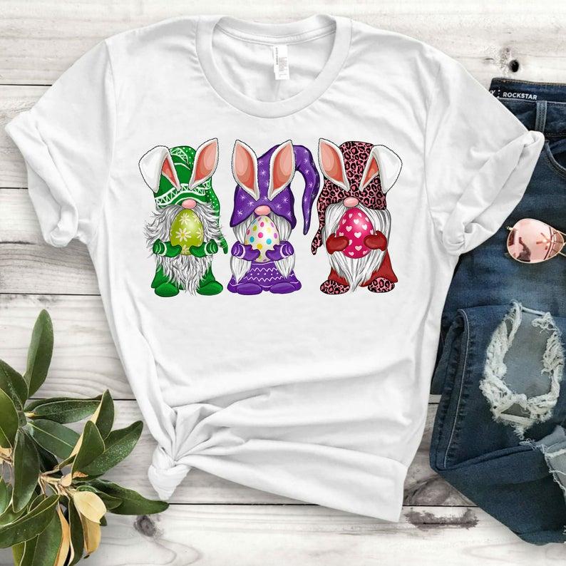 Bunny Tshirt Happy Easter T Shirt Happy Easter Shirt Bunny Shirt Easter Shirt Womens Bunny Ear Shirt
