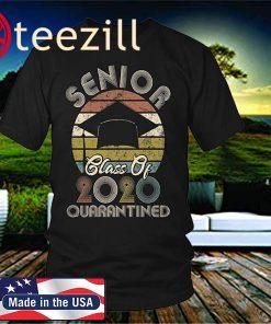 KindaTee Class of 2020 Quarantined Seniors Sunset Vintage Shirt