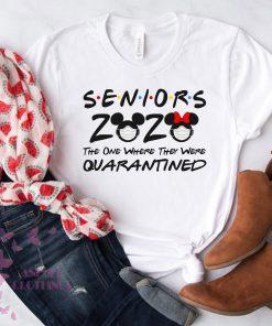 Mickey Minnie Seniors Shirt Friends The One When They Were Quarantined T-shirt Disney Quarantine Gift For Men Women Class Of 2020 Graduation