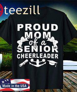 Proud Mom Of A Senior Cheerleader 2020 Mom Cheerleading T-Shirt