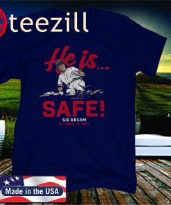 Sid Bream T-Shirt, He is... Safe, Atlanta - MLBPAA Licensed