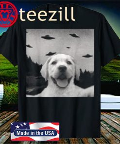 Alien UFO Selfie Labrador Shirt