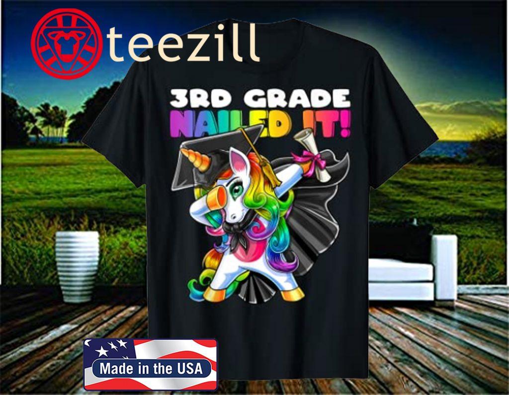 Dabbing Unicorn 5th Grade Tshirt Girls Boys Graduation Gift