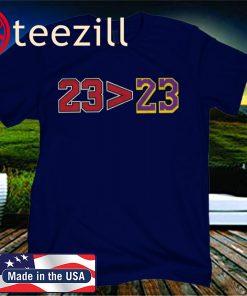23>23 Greater Than Basketball T-Shirt