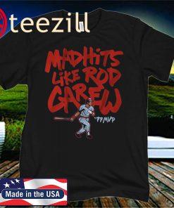Mad Hits Like Rod Carew Minnesota T-Shirts