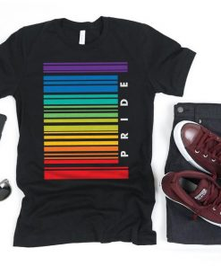 Gay Pride Barcode Flag Shirt, Gay Shirt, Gay Gifts, Gay Pride, LGBT Shirt, Pride Shirt, Lesbian Shirt, Rainbow Flag Tank Top