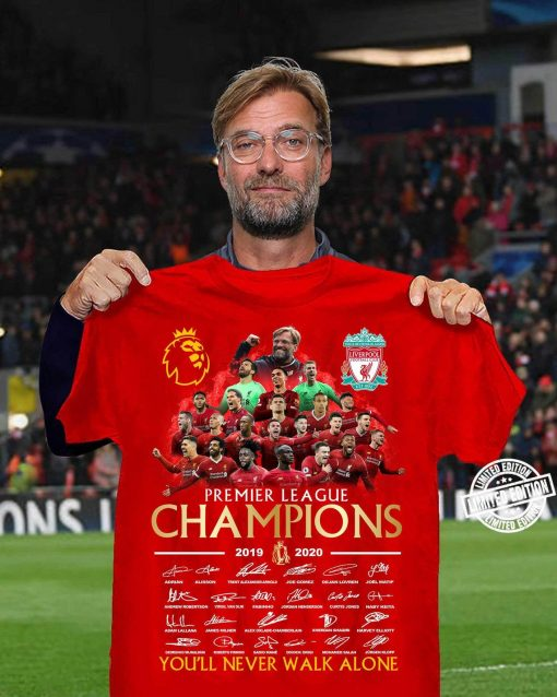 Liverpool Premier League Champions 2020 White Red UK - Liverpool FC Funny Fashion Shirt Hoodie Sweatshirt Tank Vneck All Size For Men Women