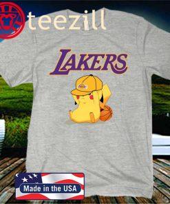Nba Pikachu Basketball Sports Los Angeles Lakers Kids Shirt