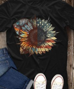 USA Flag pattern Sunflower Shirt, Patriotic Shirt, American Flag Shirt, USA Shirt