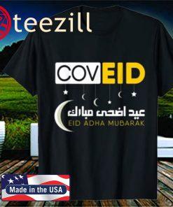 Eid Mubarak Cov Eid With Arabic Words Official T-Shirt