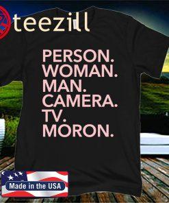 Person, Woman, Man, Camera, TV, MORON T-Shirt