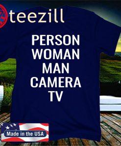 Person, Woman, Man, Camera, TV Shirt