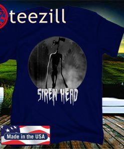 Scary Siren Head Vintage Meme Character Halloween Shirt