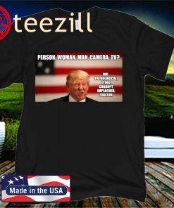 Trump, Person, Woman, Man, Camera, TV, Shirt