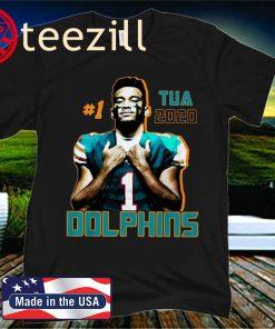 Tua Tagovailoa 1 2020 Miami Dolphins Football Team Official T-Shirt