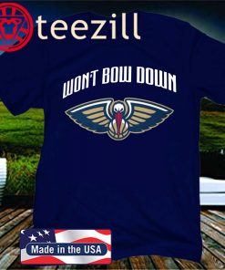 Won't Bow Down Tee New Orleans Pelicans Logo