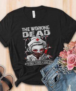2020 Halloween Nurse T-Shirt, The Working Dead RN T-Shirt, Shirt For Women, Scoop Neck T-Shirt For woman, Funny Nursing T-Shirt