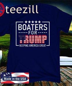 Boaters For Trump Conservative Gifts Trump 2020 Boat Shirt